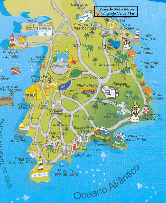 Salvador do Bahia - Tourist Map