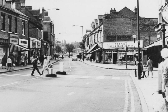 Warwick Road businesses at Station Road, 1970 (Birmingham Libraries)