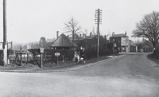 Broad Road corner and the recreation ground March 1931 (Birmingham Libraries)