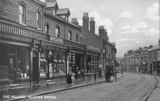 Businesses near Station Road, c. 1900