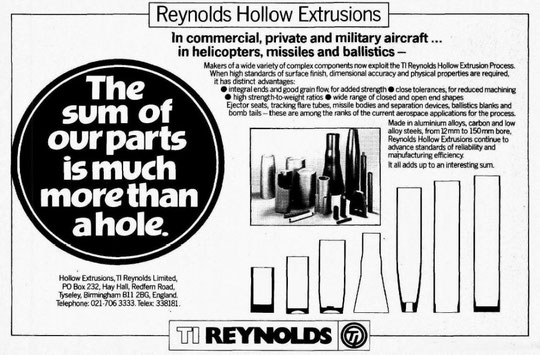 Hollow Extrusions advert, 1980s