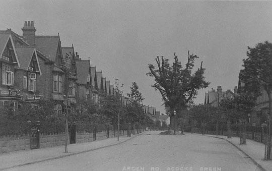 Arden Road street scene, c. 1905