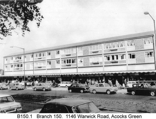 The Co-op supermarket and row of shops. Copyright Central England Co-operative