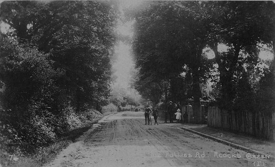 Fox Hollies Road from near the Warwick Road, c. 1905 (thanks to Peter White)