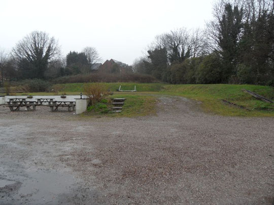 The former petanque playing area, March 2014
