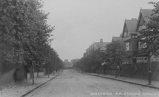 Postcard of Malvern Road, showing 1, 3 and 5, and 15 onwards