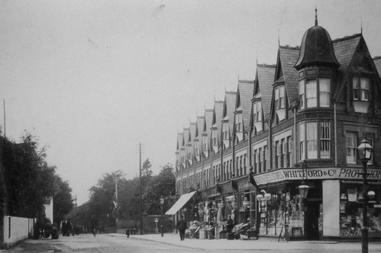 The shops at Oxford Road, c. 1907