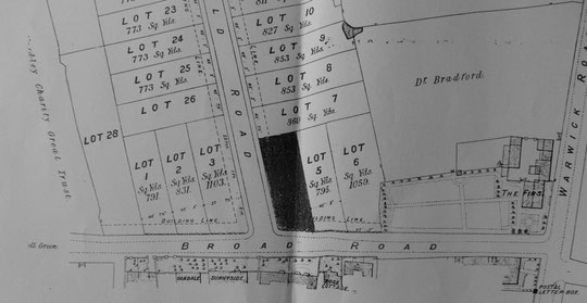 Westfield Road Estate map extract 1889