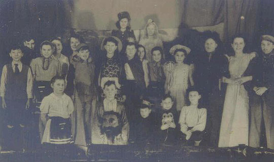 The Bible Club panto, Jack and the Beanstalk, c. 1947 (thanks to Dennis Simons for this photo)