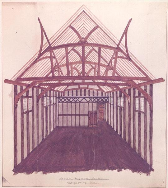 Hall in the Medieval period (via K. Sprayson)