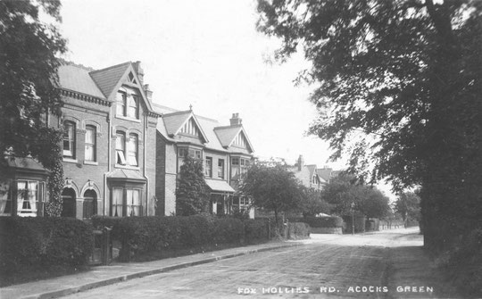 Houses near Westfield Road, c. 1905 (thanks to Peter White)