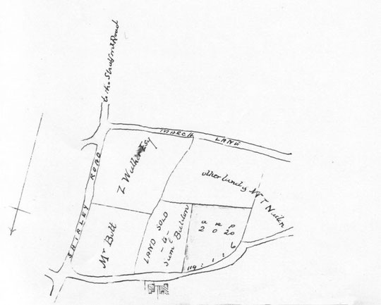 A 1901 sketch from the deeds to Hollybank