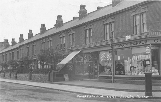Shaftmoor Lane shops and houses when new. Thanks to Peter White