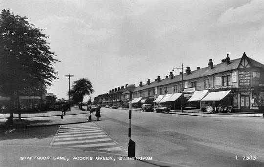 Shaftmoor Lane in the 1950s. Thanks to Peter White