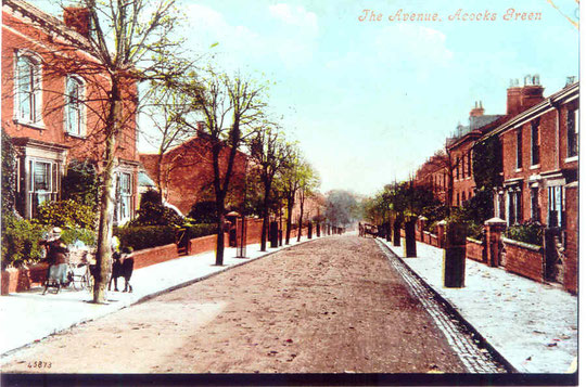 The Avenue, possibly in springtime, early 20th century