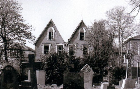 The Gothics, Warwick Road, where the Percevals lived from the 1860s until the 1880s. This photo was taken by Revd Richard Postill on the day the houses were demolished, on 12th April 1989