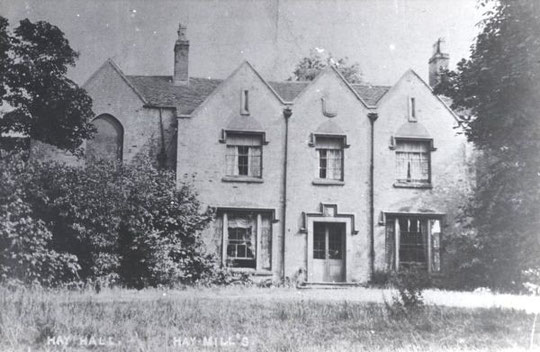 An early postcard of Hay Hall