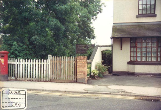 The right of way from Sherbourne Road, July 1988. It still exists today