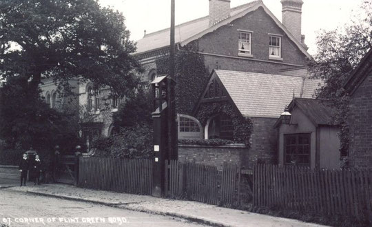 Flint Green Road near the Warwick Road, c. 1905 (Thanks to Peter White for this image)