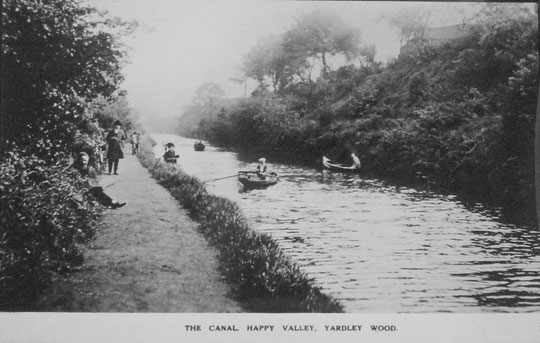 Rowing boats in the 'valley' of the canal cutting north of School Road