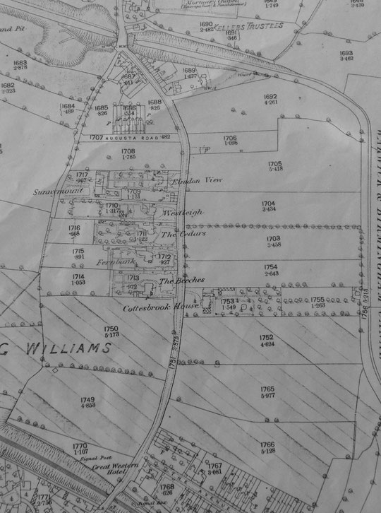 Extract from the 1888 O.S. map (Birmingham Libraries)