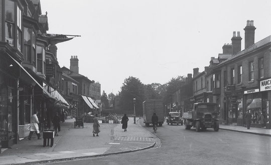 Looking east from Station Road in 1936 (Birmingham Libraries)