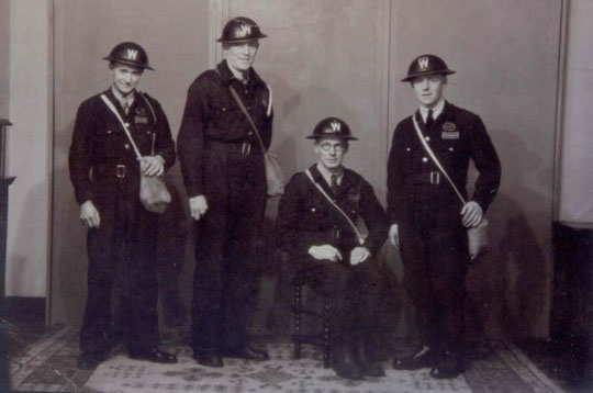 A.R.P. wardens from Acocks Green (thanks to Peter Sherwin for this image)