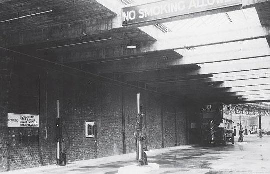 The bus garage when new in 1928 (Birmingham Libraries)