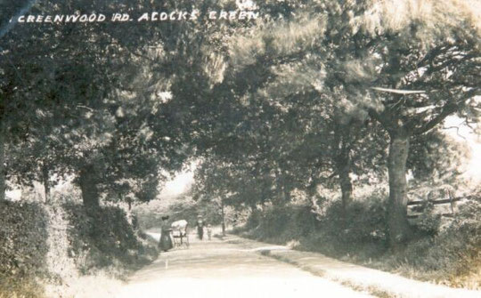 Greenwood Road c. 1905. This became part of Olton Boulevard East when built up