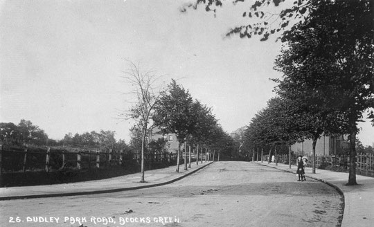 Dudley Park Road from near the Five Ways junction, c. 1905 (Thanks to Peter White for this image)