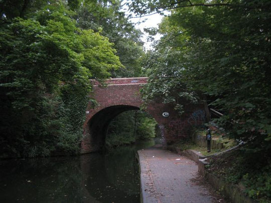 The bridge from the towpath, looking north - a tranquil view