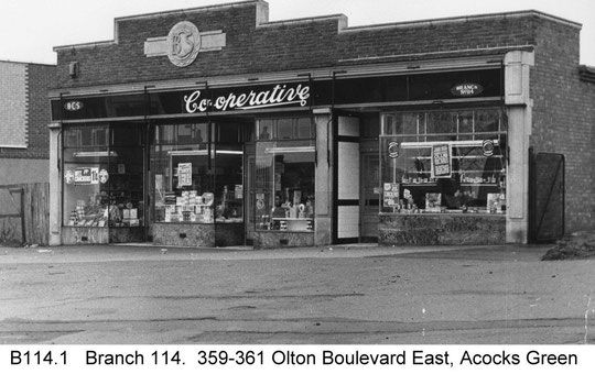 Co-op branch 114, at numbers 359-361, copyright Central England Co-operative