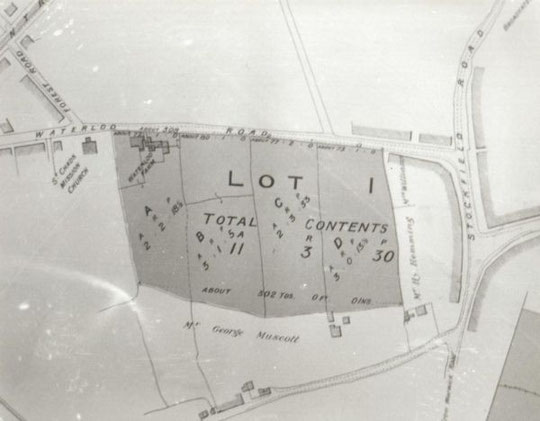 Extract from a sale catalogue of Waterloo Farm, 1907 (Birmingham Libraries)