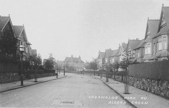 Greswolde Park Road, c. 1905 (Birmingham Libraries)