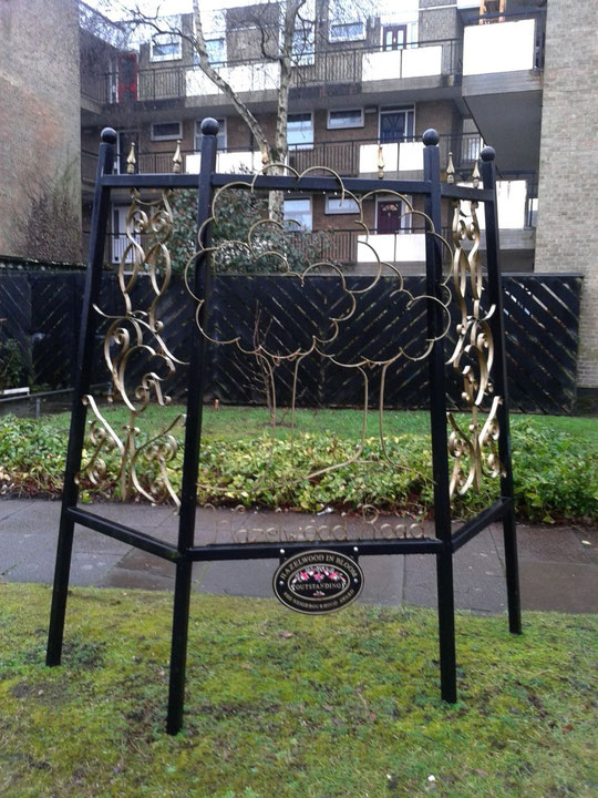 Tony Vellam's metal sculpture created for Hazelwood Road's Britain in Bloom entry in 2007