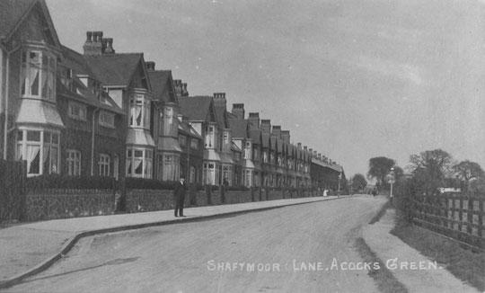 Shaftmoor Lane, c. 1915. Thanks to Peter White