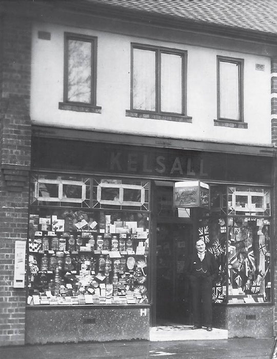 Ernest Kelsall's confectionery shop, 298 Fox Hollies Road, c. 1937 (Birmingham Libraries)