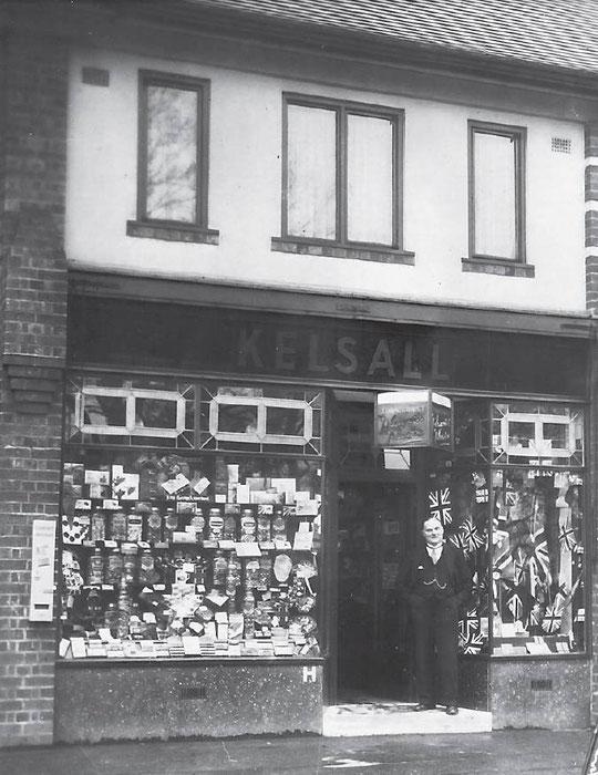 Ernest Kelsall's confectionery shop, 298 Fox Hollies Road, c. 1937 (Birmingham Libraries)