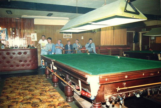 The snooker room and bar, July 1988