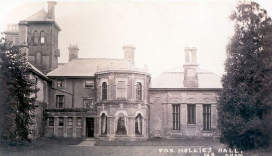 Fox Hollies Hall, c. 1900