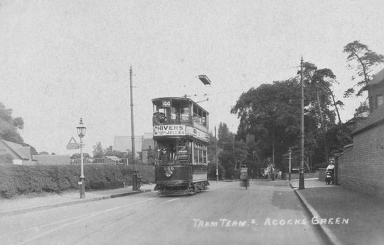 The temporary terminus at Broad Road. The Firs is on the right (Peter White)