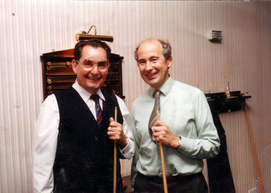 Snooker at the club with Ray Reardon (thanks to Julia Larden)