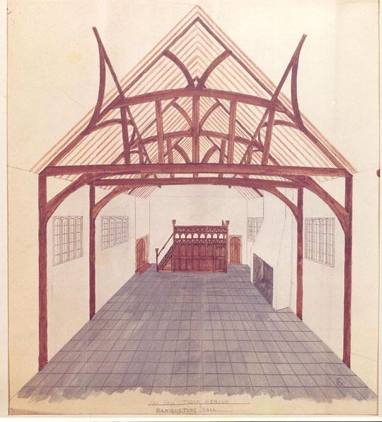 Hall in the Tudor period (via K. Sprayson)