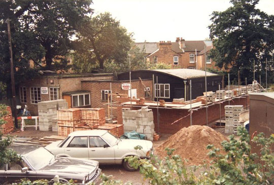 New walls going up, September 1988