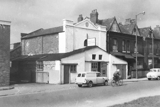 The 1827 chapel and school, taken by John Morris Jones in 1956. It functioned as a workshop for many years.