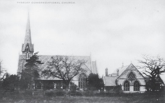 The church and schoolroom building, c. 1905