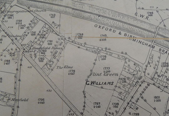 1886 O.S. map extract