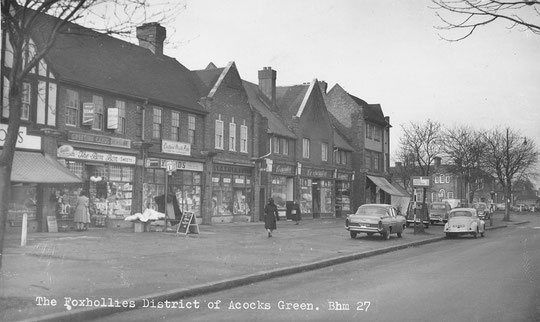Fox Hollies Road shops c. 1950 (thanks to Peter White)