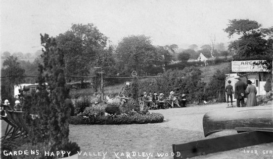 Gardens at Happy Valley. Happy Valley's Arcadia offers 'first class entertainment'. (Barrie Geens collection)