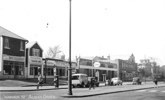 Businesses from the 1938 West End Stores eastward, 1950s (Mike Wood)